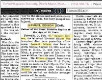 Samuel Edison Dead 27 Feb 1896