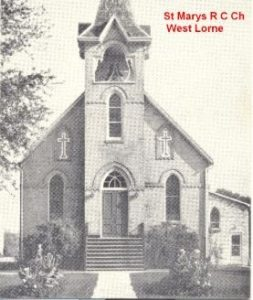 St. Mary's RC Church at West Lorne old church