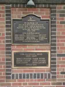 Rodney Cenotaph Plaque