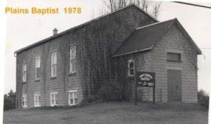 Plains Baptist Church 1978